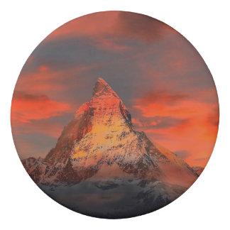 Mountain Switzerland Matterhorn Zermatt Red Sky Eraser
