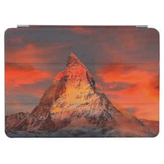 Mountain Switzerland Matterhorn Zermatt Red Sky iPad Air Cover