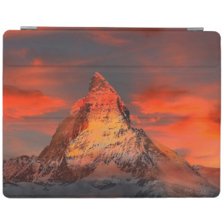 Mountain Switzerland Matterhorn Zermatt Red Sky iPad Cover