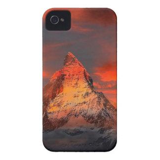 Mountain Switzerland Matterhorn Zermatt Red Sky iPhone 4 Cases