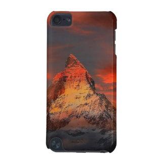 Mountain Switzerland Matterhorn Zermatt Red Sky iPod Touch 5G Covers