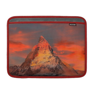 Mountain Switzerland Matterhorn Zermatt Red Sky MacBook Air Sleeves