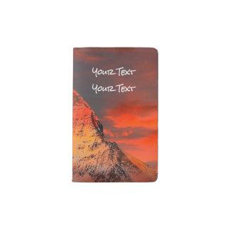 Mountain Switzerland Matterhorn Zermatt Red Sky Pocket Moleskine Notebook