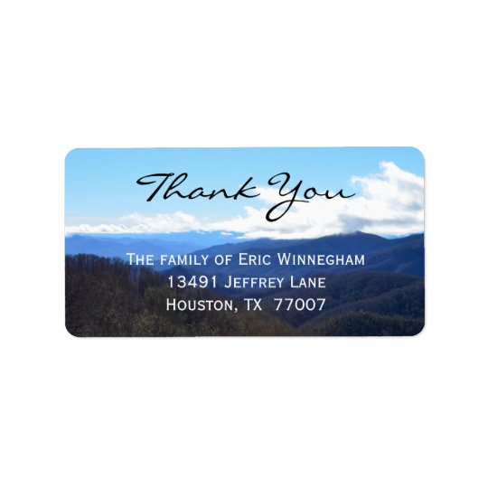 Mountain Thank You Label Address Label