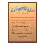 Mountain theme autumn wedding RSVP cards Invitations