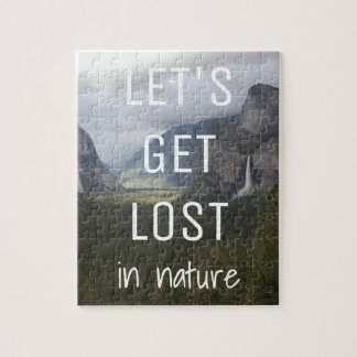 Mountain Themed Puzzle with Quote