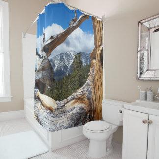 Mountain Through a Tree Shower Curtain