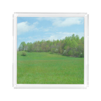 Mountain Top Hay Field Acrylic Tray