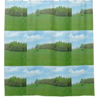 Mountain Top Hay Field Shower Curtain