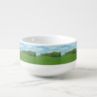 Mountain Top Hay Field Soup Bowl With Handle