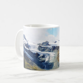 Mountain tops in the alps coffee mug
