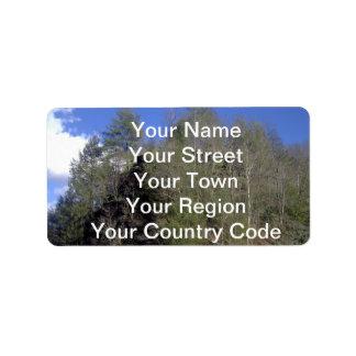 Mountain Trees Address Label