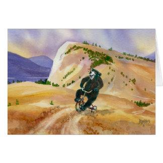 Mountain Triking Black Bear Card