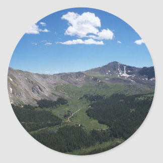 Mountain View Classic Round Sticker