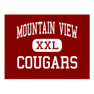 Mountain View - Cougars - High - Bend Oregon Postcard