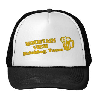 Mountain View Drinking Team tee shirts Trucker Hats