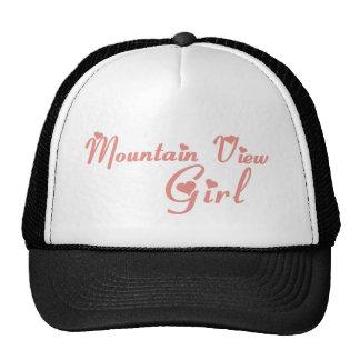 Mountain View Girl tee shirts Mesh Hats