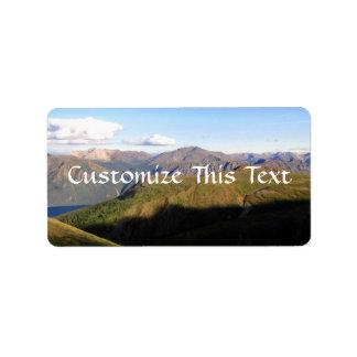 Mountain View Label