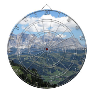 Mountain view of the italian Dolomites at summer Dartboard