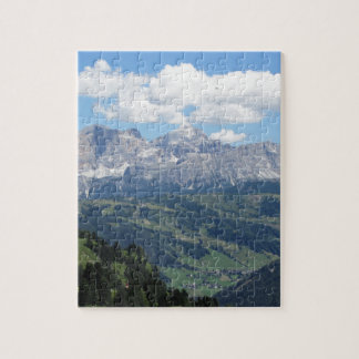 Mountain view of the italian Dolomites at summer Jigsaw Puzzle