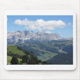 Mountain view of the italian Dolomites at summer Mouse Pad