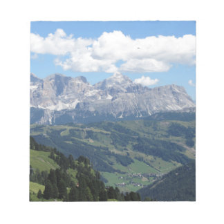 Mountain view of the italian Dolomites at summer Notepad