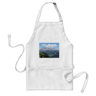 Mountain view of the italian Dolomites at summer Standard Apron