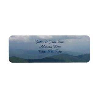 Mountain View Return Address Label
