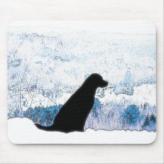 Mountain Views Black Labradors Mouse Pad