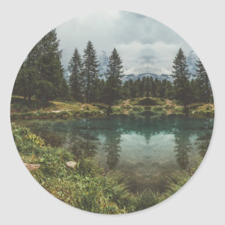 Mountain Views Classic Round Sticker