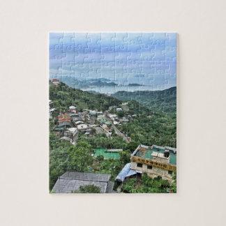 Mountain village along the seashore jigsaw puzzle