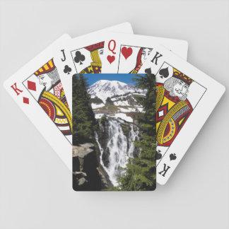 Mountain Waterfall Photo Playing Cards