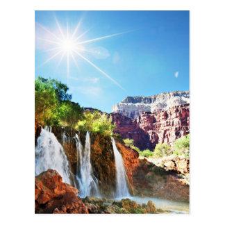 Mountain Waterfall Postcard