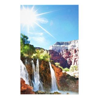 Mountain Waterfall Stationery