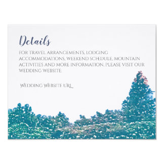 Mountain Wedding Invitation Suite - Details Card