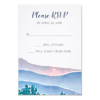 Mountain Wedding Invitation Suite - RSVP Card