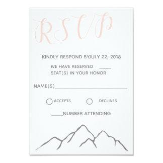 Mountain Wedding RSVP Card