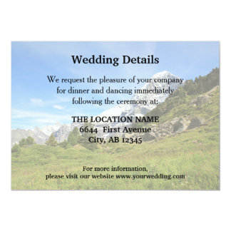 Mountain Wedding Swiss Eiger details information Card