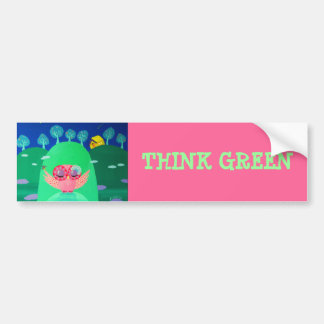 Mountain Whispers - Think Green Bumper Sticker