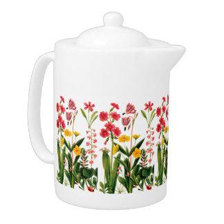 Mountain Wildflowers Flowers Porcelain Teapot