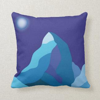 Mountain winter landscape throw pillow