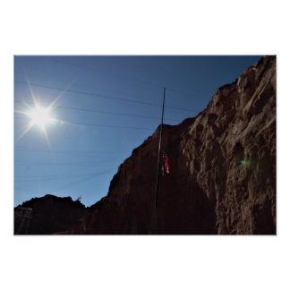 Mountain with Sunlight Poster