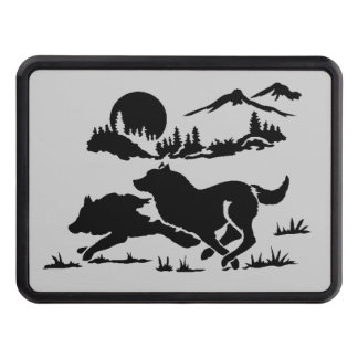 Mountain Wolves Trailer Hitch Cover