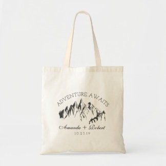 Mountain Woodland Forest Wedding Favor Gift Tote Bag