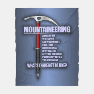 Mountaineering 2 fleece blanket