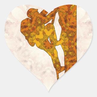 Mountaineering - Rock climbing Heart Sticker