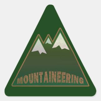 mountaineers, mountain style triangle sticker