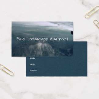 Mountains Abstract Blue Landscape Background Business Card