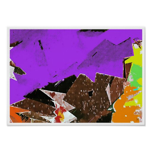 Mountains Abstract Expressionism Poster Print