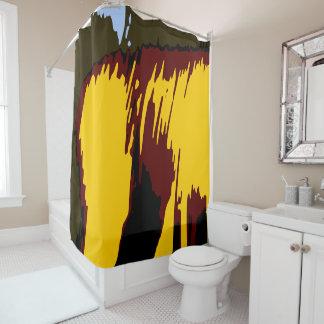 Mountains Abstract Modern Vector Art Shower Curtain